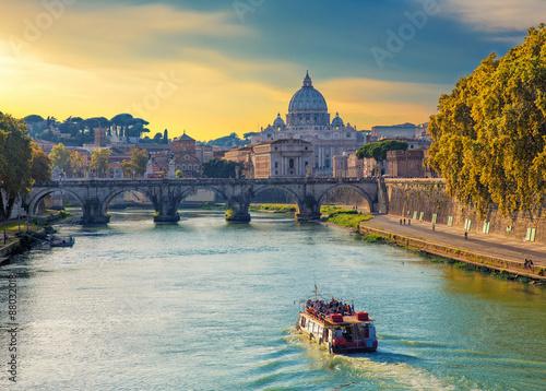 Foto Saint Peters basilica view, Roma,  Italy.