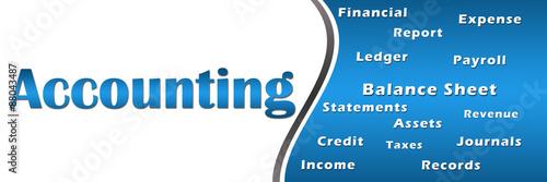Accounting With Keywords Horizontal  - 88043487