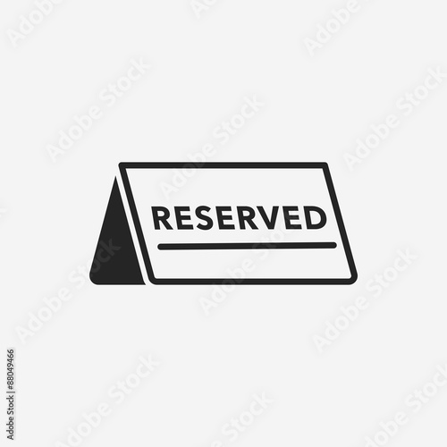 reserved icon Fototapeta