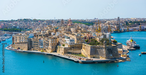 Photo Stands Ship view on Valletta from sea