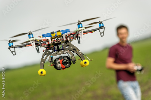 Poster Helicopter Unmanned copter flight