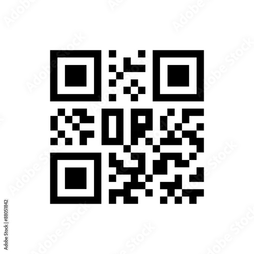 Fotografie, Obraz  Qr code icon. Vector illustration. Eps 10