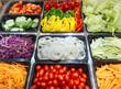 canvas print picture - Salad Bar Fresh Vegetables Healthy food