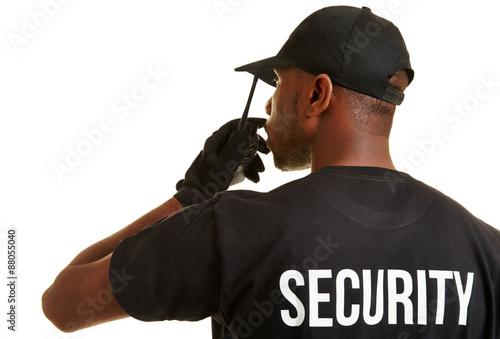 Photo Security Mann vom Personenschutz