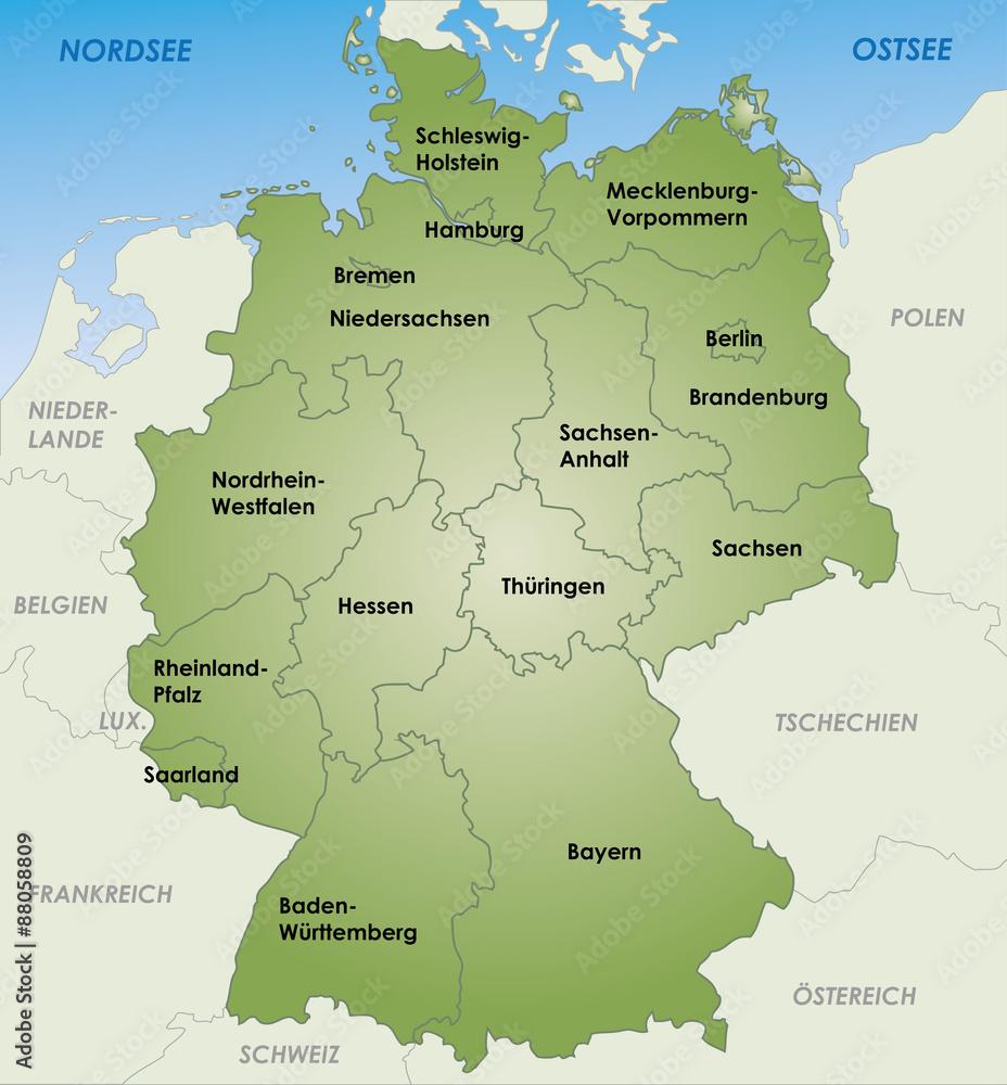 Gamesageddon Stock Deutschland Karte Und Bundeslander