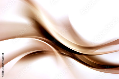 Staande foto Fractal waves Abstract Brown Waves Background