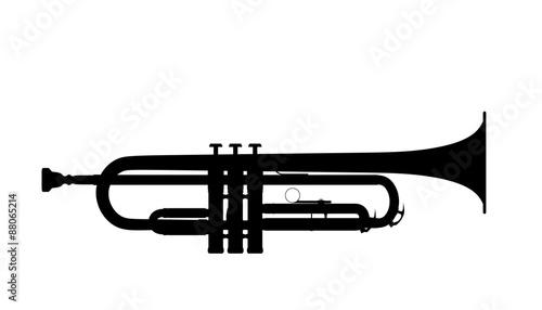 Silhouette of trumpet Fototapeta