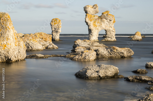 Photo  Sea Stack at Fårö, Gotland in Sweden