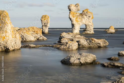 Fotografía  Pila del mar en Faro, Gotland en Suecia