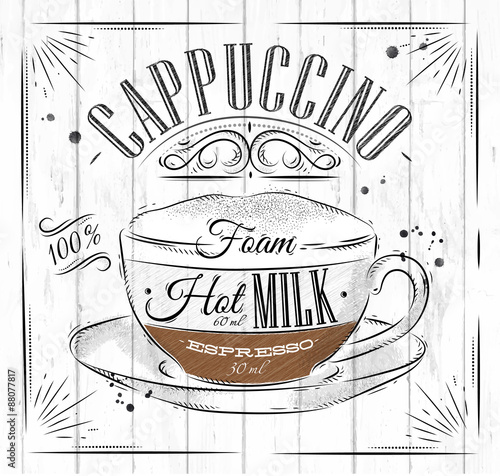 Stampa su Tela  Poster cappuccino