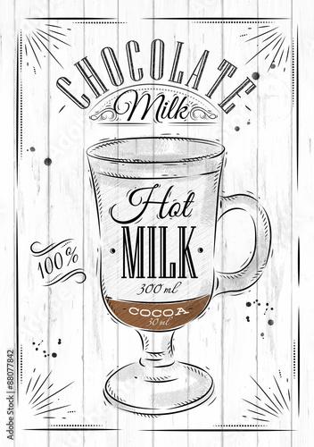 Fotografia  Poster chocolate milk