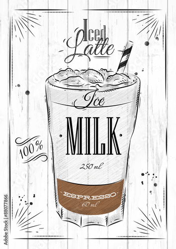 Stampa su Tela  Poster iced latte