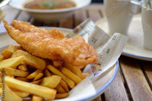 Photo sur Aluminium Poisson Fish and chips