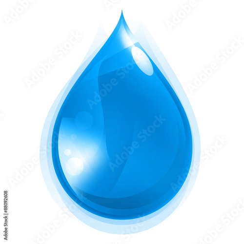 Ikona kropli wody Canvas Print