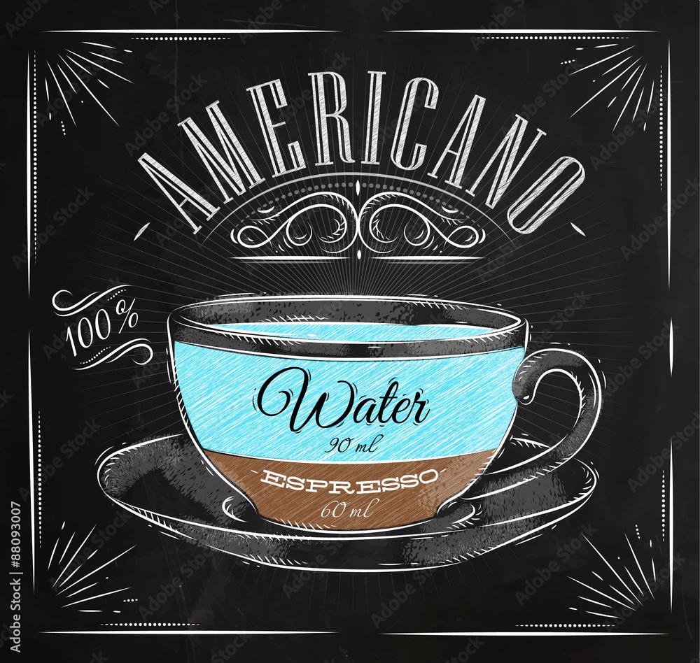 Fotografia  Poster americano chalk