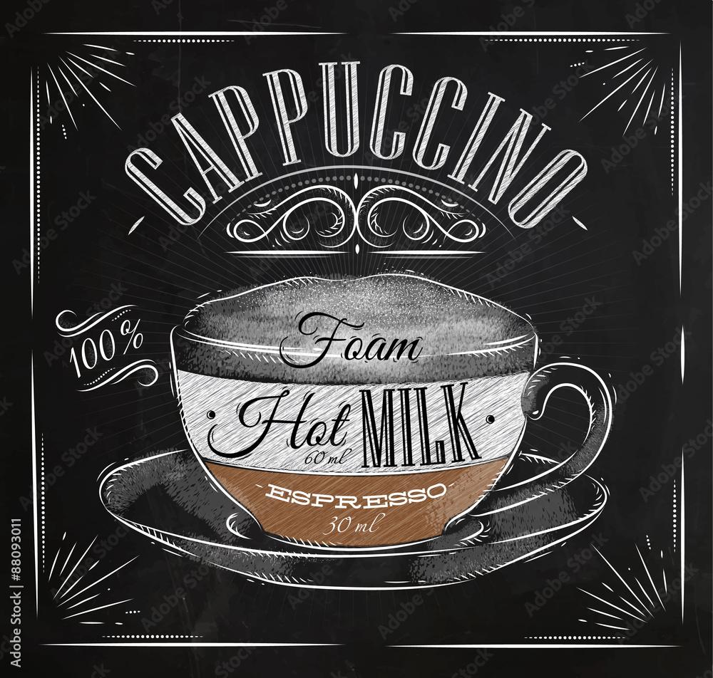 Photo  Poster cappuccino chalk