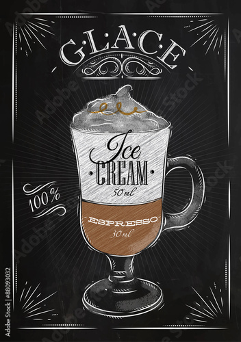 Fotografering  Poster glace chalk