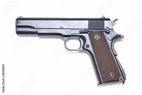 Fotografie, Obraz  Pistol isolated on white background