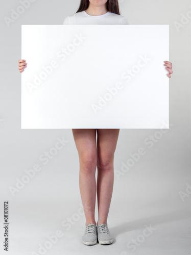 Blank poster Canvas Print
