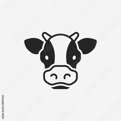 Canvas-taulu cow icon