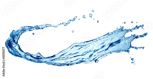 Photo sur Toile Eau water splash isolated on white background