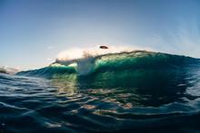 Surfer Wipeout At Banzai Pipeline, Hawaii, USA