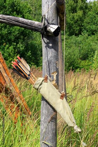 Fotografia  Стрелы лука, висящие в колчане