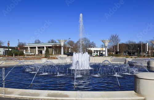 Papiers peints Fontaine Rock Hill Fountain Park in South Carolina in winter.