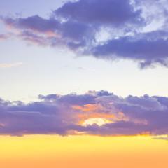 Fototapeta Prezenty ślubne sunset sky