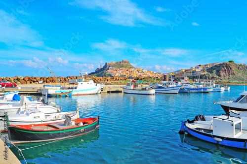 Photo  Castelsardo harbor on a clear day