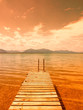 wooden jetty (178) on lake chiemsee