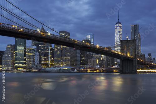 Printed kitchen splashbacks Brooklyn Bridge Brooklyn Bridge by night