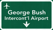Houston George Bush USA Intercontinental Airport Highway Road Si