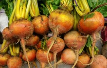 Golden Beets At A Produce Stand