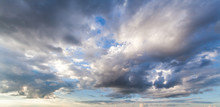 Colorful Dramatic Sky With Clo...