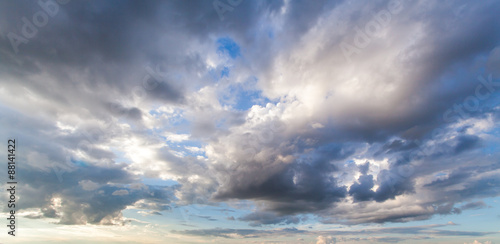 Fotografie, Obraz  colorful dramatic sky with cloud at sunset