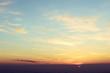 Vintage view on landscape on sunset