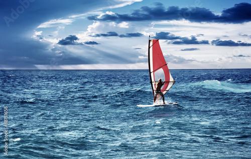 Windsurfer in the sea