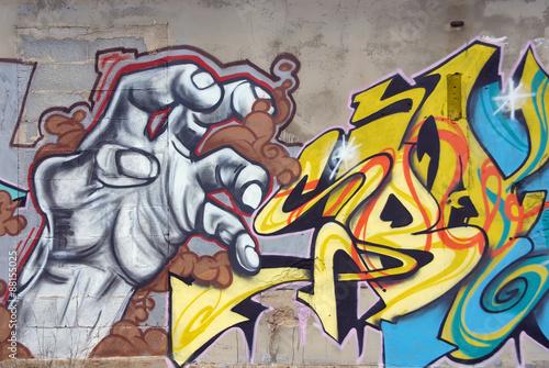 Foto op Aluminium Graffiti Graffitti