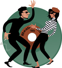 Beatnik Couple Dancing, Vinyl ...