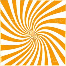 Orange Rays Abstract Retro Background