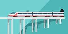 Train. Vector Illustration For Your Design And Infographic Template.