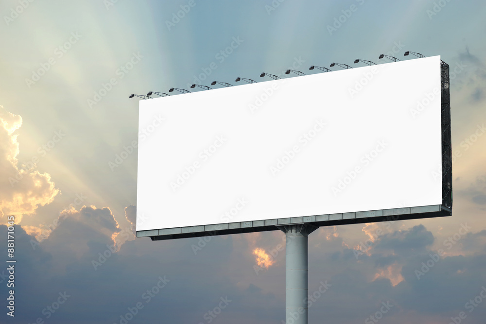 Fototapety, obrazy: blank billboard for advertisement on sky background