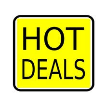 Hot Deals Black Stamp Text On ...