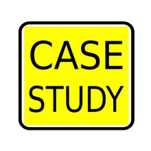 Case Study Black Stamp Text On Yellow Background