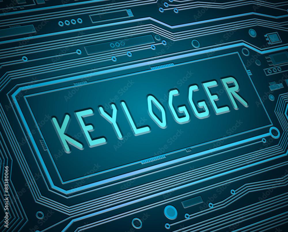 Fototapeta Keylogger concept.