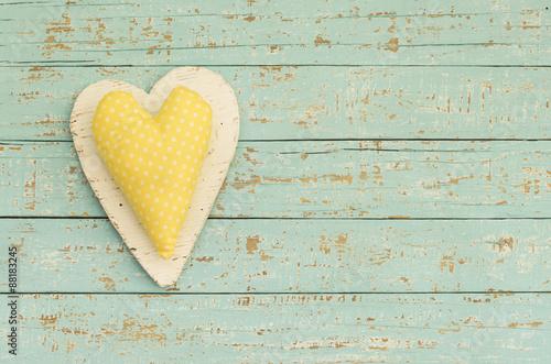 Postkarte Grußkarte Sommer mit Herz Gelb