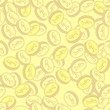 Seamless pattern with coins.