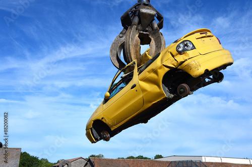 Foto  destruction automobile