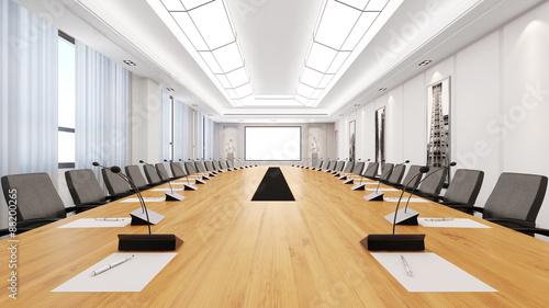Obraz na plátně Großer Tisch im Konferenzraum